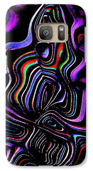 Galaxy Case featuring the digital art Abstract  Rhythm A Contemporary Modern Digital Art by Annie Zeno