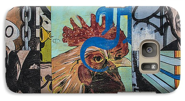 Galaxy Case featuring the mixed media Abstract Rooster Panel by Terry Rowe