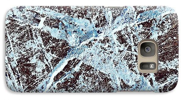 Abstract Scribble Pattern On Stone Galaxy S7 Case by Jozef Jankola