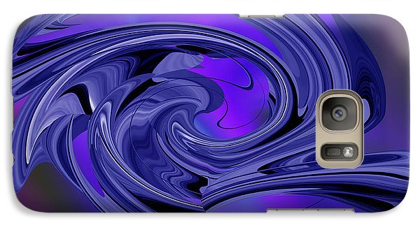 Galaxy Case featuring the digital art Abstract - Shades Of Blue by rd Erickson