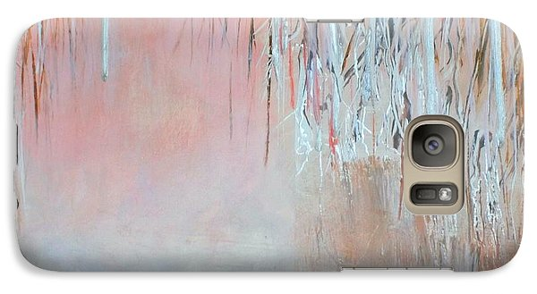 Galaxy Case featuring the painting Abstract Spring by Donna Dixon