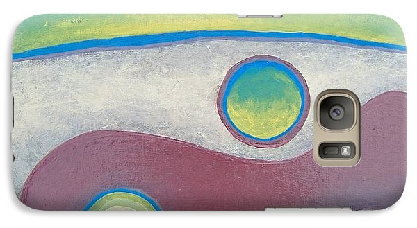 Galaxy Case featuring the painting Abstract by Steve  Hester
