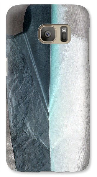 Galaxy Case featuring the photograph Abstract Teal  by Sebastian Mathews Szewczyk