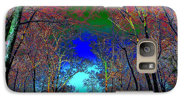 Galaxy Case featuring the photograph Abstract Trees by Pete Trenholm