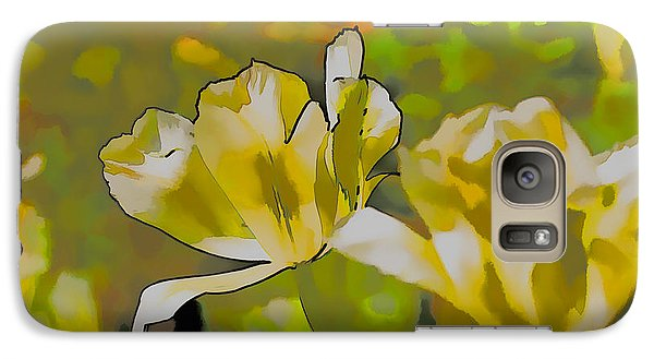 Galaxy Case featuring the photograph Abstract Tulip by Leif Sohlman