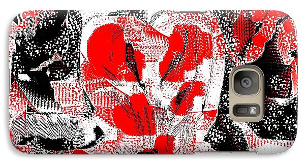 Galaxy Case featuring the painting Abstract Valentine by Jessica Wright