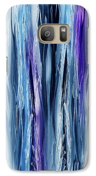 Abstract Waterfall Purple Flow Galaxy S7 Case