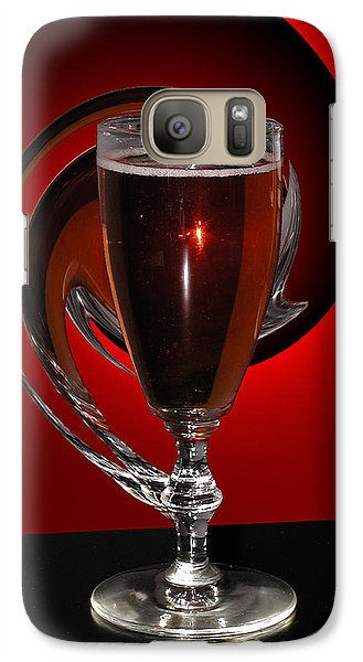 Galaxy Case featuring the photograph Abstract Wine Glass by Judy  Johnson