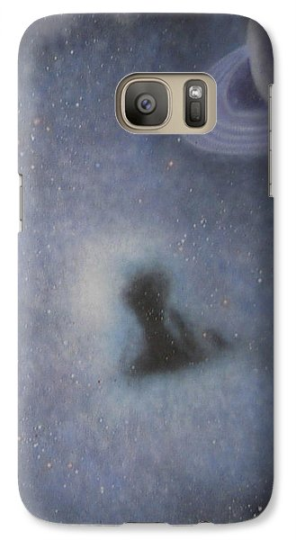 Galaxy Case featuring the painting Abstract5 by Min Zou