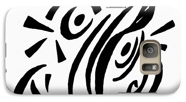 Galaxy Case featuring the painting Astratto - Abstract 13 by Ze  Di