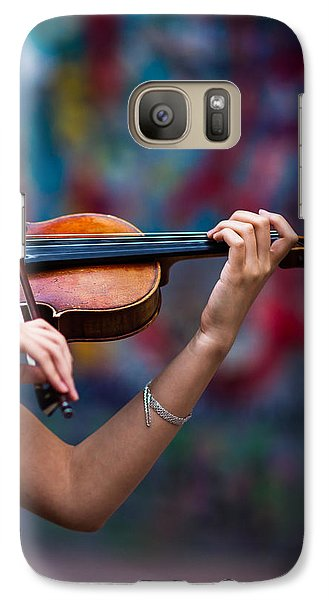 Violin Galaxy S7 Case - Abstracts From Vivaldi - Featured 3 by Alexander Senin