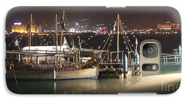 Galaxy Case featuring the photograph Abu Dhabi At Night by Andrea Anderegg