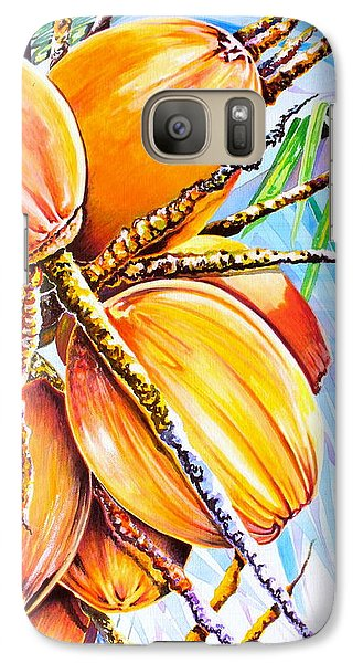 Galaxy Case featuring the painting Abundance by Julie  Hoyle