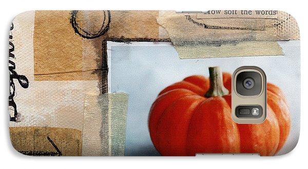 Pumpkin Galaxy S7 Case - Abundance by Linda Woods