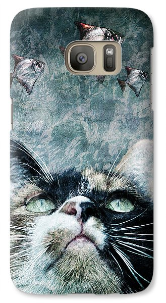 Galaxy Case featuring the photograph Abyss Cat Nr 2 by Laura Melis