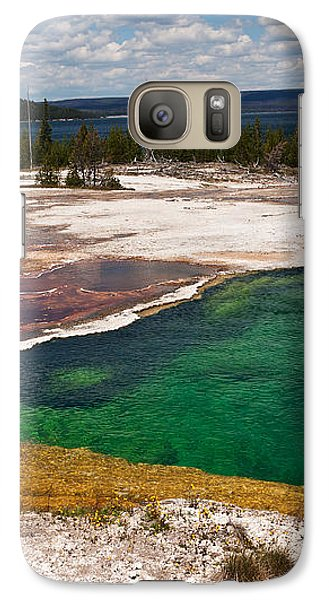 Galaxy Case featuring the photograph Abyss Pool And Yellowstone Lake by Sue Smith