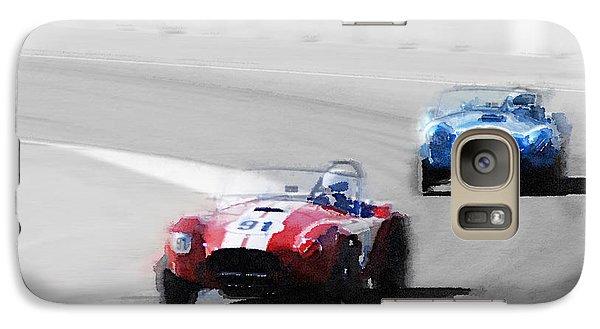 Cobra Galaxy S7 Case - Ac Cobra Racing Monterey Watercolor by Naxart Studio