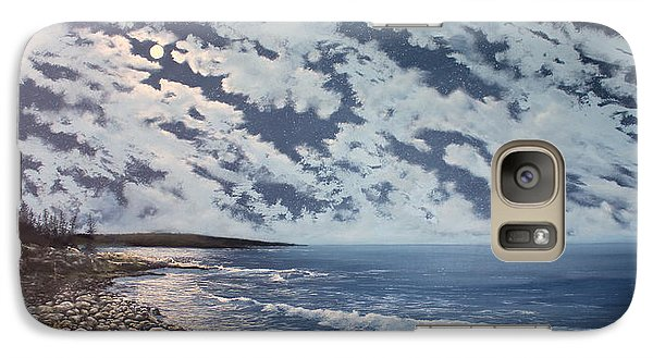 Galaxy Case featuring the painting Acadia Moon by Ken Ahlering