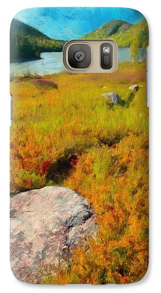 Galaxy Case featuring the painting Acadia Spring by Jeff Kolker