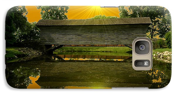 Galaxy Case featuring the photograph Ackley Covered Bridge by Michael Rucker