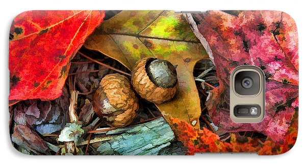 Galaxy Case featuring the photograph Acorns And Leaves by Kenny Francis