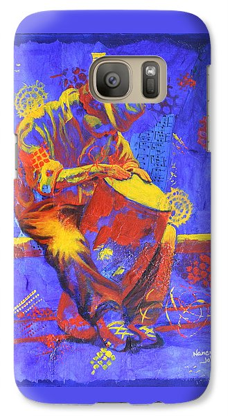 Galaxy Case featuring the painting Acoustic Blues by Nancy Jolley