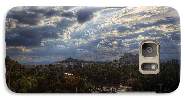 Galaxy Case featuring the photograph Acropolis From The Kallimarmaro by Micah Goff