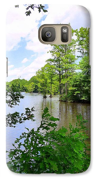 Galaxy Case featuring the photograph Across Crystal Lake by Jim Whalen