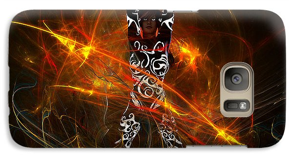 Galaxy Case featuring the digital art Activated... by Tim Fillingim