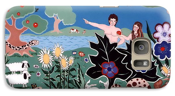 Galaxy Case featuring the painting Adam And Eve by Joyce Gebauer