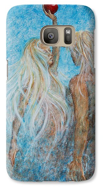 Galaxy Case featuring the painting Adam And Eve  by Nik Helbig