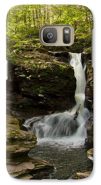 Galaxy Case featuring the photograph Adams Falls 0348 by Tom Kelly