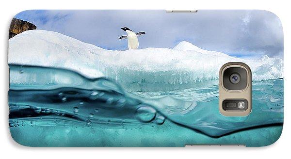 Penguin Galaxy S7 Case - Adelie Penguin On Iceberg by Justin Hofman