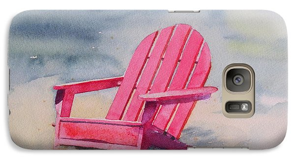 Galaxy Case featuring the painting Adirondack At The Beach by Ranjini Kandasamy