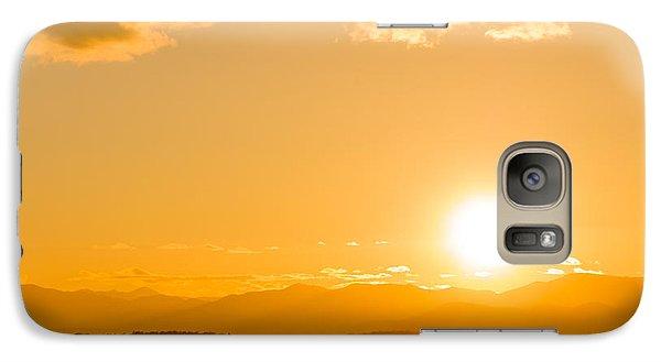 Galaxy Case featuring the photograph Adirondack Sunset by Jeremy Farnsworth