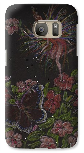 Galaxy Case featuring the drawing Admiration by Dawn Fairies