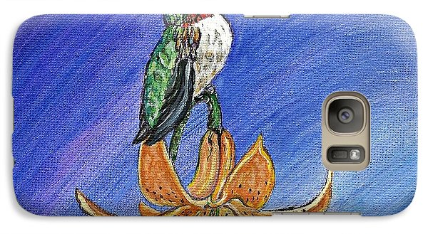 Galaxy Case featuring the painting Admiration by Ella Kaye Dickey