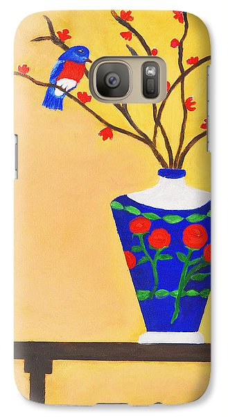 Galaxy Case featuring the painting Admiring Bird by Margaret Harmon