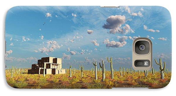Galaxy Case featuring the digital art Adobe House by Tim Fillingim