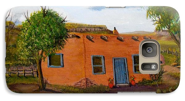 Galaxy Case featuring the painting Adobe On The Prairie by Sheri Keith