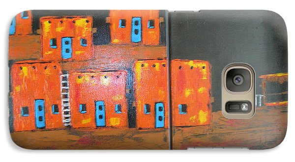 Galaxy Case featuring the painting Adobes by Sharyn Winters