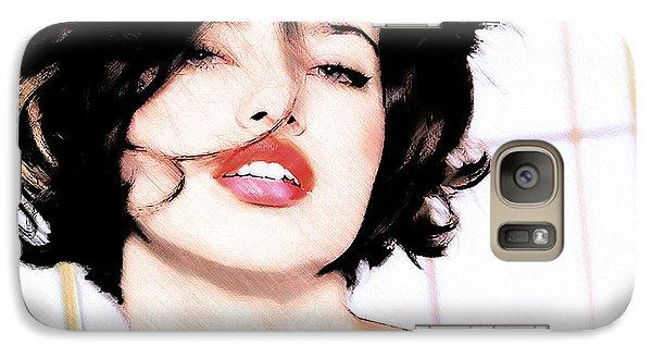 Galaxy Case featuring the digital art Adriana Lima by David Blank
