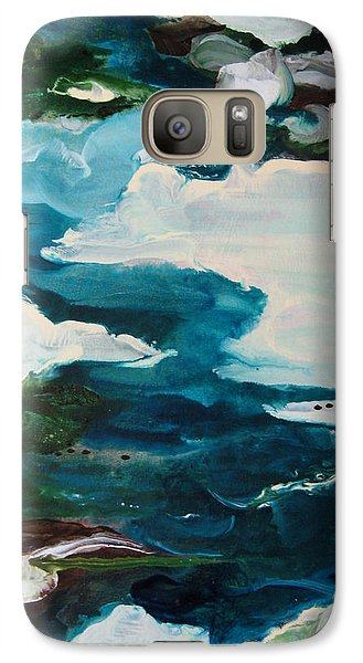 Galaxy Case featuring the painting aDrift IV by Elis Cooke