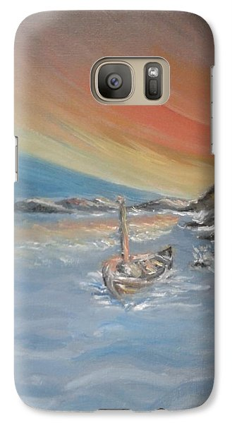Galaxy Case featuring the painting Adrift by Teresa White