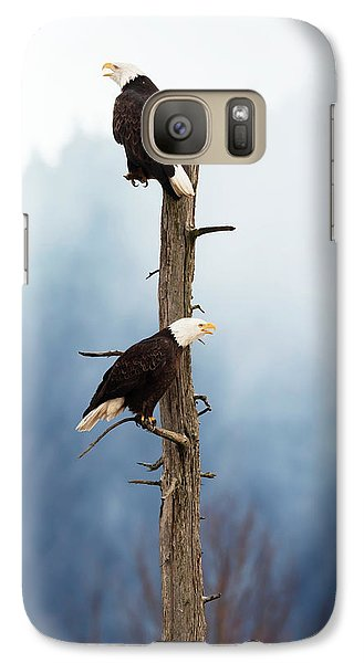 Adult Bald Eagles  Haliaeetus Galaxy S7 Case by Doug Lindstrand