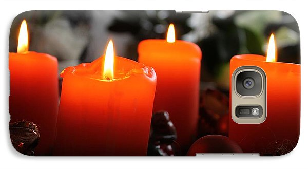 Galaxy Case featuring the photograph Advent Candles Christmas Candle Light by Paul Fearn