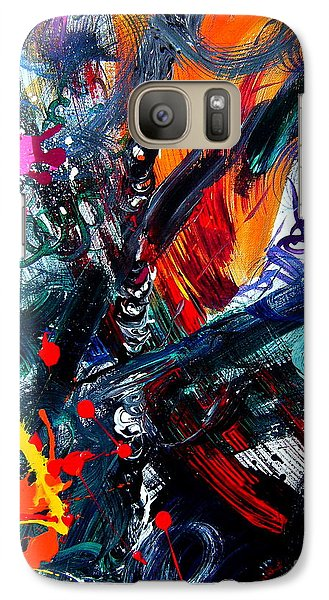 Galaxy Case featuring the painting Adventure by Christine Ricker Brandt