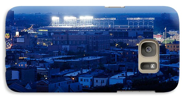 Aerial View Of A City, Wrigley Field Galaxy Case by Panoramic Images