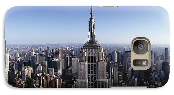 Empire State Building Galaxy S7 Case - Aerial View Of A Cityscape, Empire by Panoramic Images