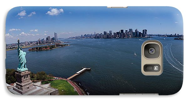 Statue Of Liberty Galaxy S7 Case - Aerial View Of A Statue, Statue by Panoramic Images